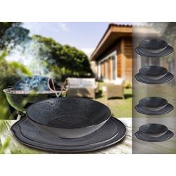 APS Geschirr-Set (12-tlg), Melamin, Camping-Geschirr für 4 Personen, Picknickgeschirr, Bootsgeschirr, Essgeschirr für Wohnmobil