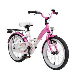 bikestar Premium Sicherheits Kinderfahrrad 16 Classic, pink/weiß