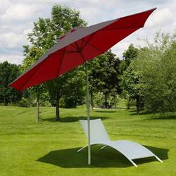 Sonnenschirm Asti, Gartenschirm, Ø 3m neigbar Polyester/Alu 5kg ~ rot
