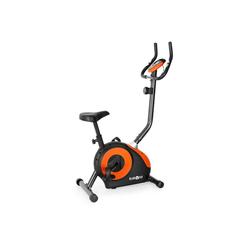 KLARFIT Fahrradtrainer Mobi FX 250 Fahrrad-Heimtrainer Ergometer Pulsmesser max. 100 kg orange