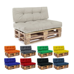 Easysitz Sitzkissen Palettenkissen Set, 120 x 80 cm für Europaletten gelb