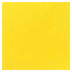 Duni Zelltuch Servietten 24x24 3lg 1/4 gelb - 8x250 Stück