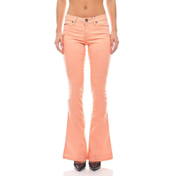 AJC Regular-fit-Jeans Bootcut Jeans Hose Sommer-Hose Damen Pfirsichfarben AjC 38