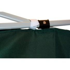 LINDER EXCLUSIV Faltpavillon 3 x 3 m inkl. 2 Seitenteile grün/weiß