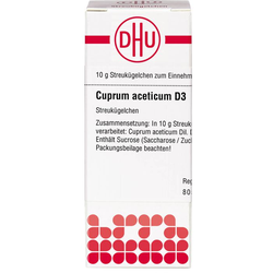 CUPRUM ACETICUM D 3 Globuli 10 g