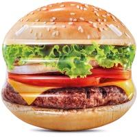 Intex 58780 Luftmatratze Hamburger mit Griffen, bunt, 135 x 127 cm