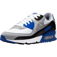 Nike Men's Air Max 90 white/hyper royal/black/particle grey 42
