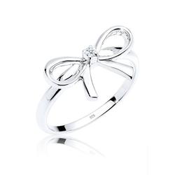 Diamore Diamantring Schleife Diamant 0.015 ct. 925 Silber, Schleife 54