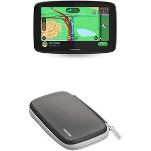 TomTom Navigationsgerät GO Essential (5 Zoll, Stauvermeidung dank TomTom Traffic, Karten-Updates Europa, Freisprechen, Updates über Wi-Fi, TMC) + Schutzhülle (geeignet für TomTom Navigationsgeräte)
