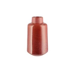Basispreis* Vase ¦ rot ¦ Steingut ¦ Maße (cm): B: 17,5 H: 30 T: 17,5