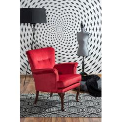 Max Winzer® Sessel Barbie, im Barockstil, mit Ziernagelband rot