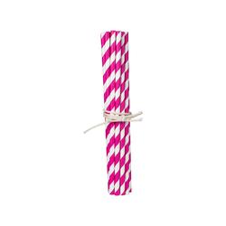 20 Trinkhalme aus Papier pink
