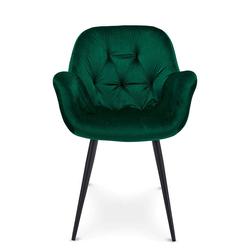 Esstisch Stühle in Grün Samt Metallgestell (2er Set)