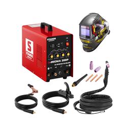 Stamos Basic Schweißset WIG Schweißgerät - 200 A - 230 V - Puls + Schweißhelm – Eagle Eye