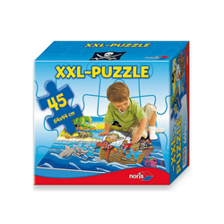 Noris Puzzle Bodenpuzzle Piraten - 45 Teile, Puzzleteile
