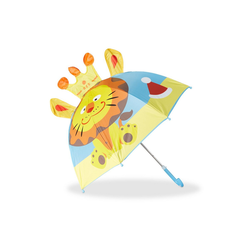 relaxdays Stockregenschirm Kinderregenschirm mit 3D Motiv blau