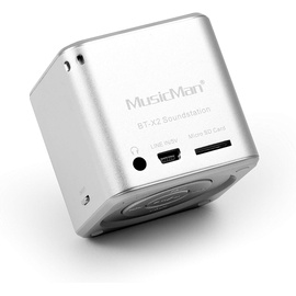 Technaxx MusicMan Mini Wireless Soundstation BT-X2 silber