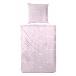 Bettwäsche Mabra, Primera, mit außergewöhnlichem Muster rosa 1 St. x 155 cm x 220 cm