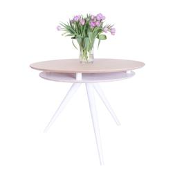 Stół Miluzza z podwójnym blatem średnica 105 cm