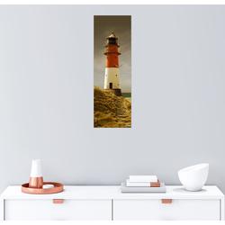 Posterlounge Wandbild, Der Leuchtturm im Abendlicht 20 cm x 60 cm