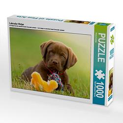 Labrador Welpe Lege-Größe 64 x 48 cm Foto-Puzzle Bild von Petra Schiller Puzzle