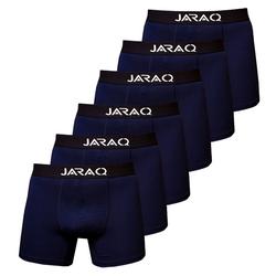 JARAQ Boxershorts Herren Bambus Boxershorts 6er-Pack Blau (6 Stück) M