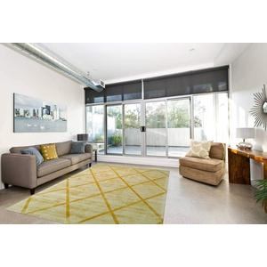 One Couture Berber Teppich 100% Viskose Handgewebt Retro Look Teppiche Kurzflorteppich Gelb Wohnzimmerteppich Esszimmerteppich Teppichläufer Flur-Läufer, Größe:80cm x 150cm