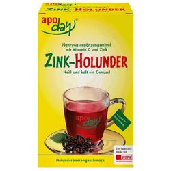 APODAY Holunder Vitamin C+Zink zuckerfrei Pulver 10X10 g