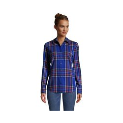 Boyfriend-Bluse aus Flanell - 48-50 - Blau