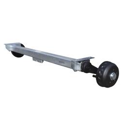 Gebremste Anhängerachse KNOTT 1200 mm 1350 kg 5x112