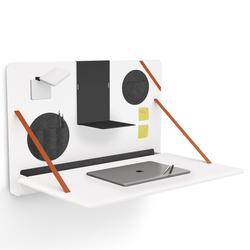 Brunner notebook - aufklappbarer Wandschreibtisch in Weiß