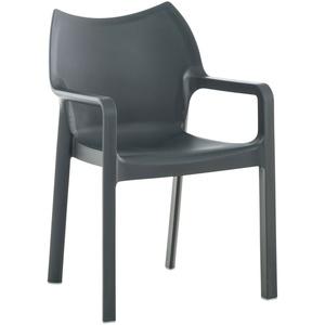 Stuhl- Sessel Sitzmöbel  Messemöbel Partymöbel stapelbar Dunkelgrau