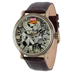 Men's Marvel Spider-Man, Iron Man, Hulk and Captain America Vintage Antique Alloy Watch - Brown