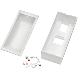 OTTOFOND Badewanne Set Körpferformbadewanne, (3-tlg), 1600/750/400 mm, Körperformbadewanne