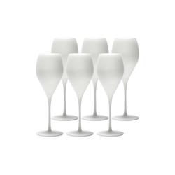 Stölzle Champagnerglas PRESTIGE Champagnerglas matt-weiß 345 ml 6er Set, Glas