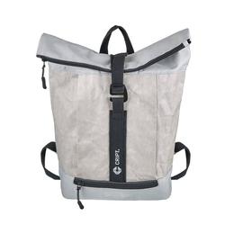 CRIPT Rucksack veggy backpack, Kraft Papier, reißfest, abwaschbar, leicht, ökologisch, nachhaltig grau