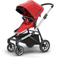 Thule Sleek Aluminium/Energy Red inkl. Babywanne
