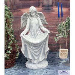 BAD-1004 Engelfigur als Sterntaler Mädchen nach der Märchenfigur Gebrüber Grimm als Steinfigur 95cm 80kg