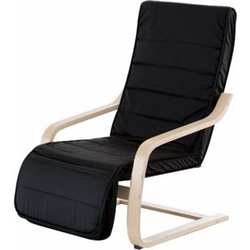 HOMCOM Relaxsessel mit verstellbarem Fußteil schwarz 81 x 66,5 x 100 cm (LxBxH)   Ruhesessel Relaxstuhl TV-Stuhl Wohnzimmersessel