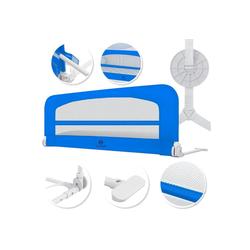 KESSER Bettschutzgitter, Babybettgitter Kinderbettgitter klappbar tragbar Kinderbett Rausfallschutz Bett & Boxspringbett 42cm Höhe Gitter für Babys und Kinder blau 120 cm