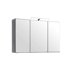 HELD MÖBEL Spiegelschrank Florida Breite 100 cm, mit LED-Beleuchtung grau