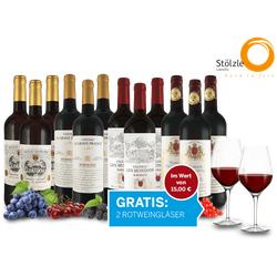 Das Bordeaux Topseller Probierpaket und 2 Gläser gratis