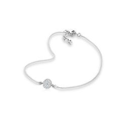 Elli Fußkette Kristalle 925 Sterling Silber weiß