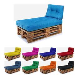 Easysitz Sitzkissen Palettenkissen Set 2, 120 x 80 cm für Europaletten blau