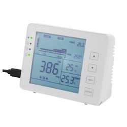 LogiLink CO2-Messgerät mit Ampel Temperaturanzeige und Luftfeuchtigkeitsanzeige Raumluft-Qualitätssensor