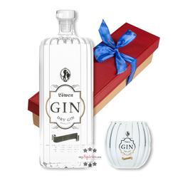 Löwen Geschenk-Set Löwen Gin mit Gin-Glas