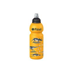Fizzii Trinkflasche FIZZII Trinkflasche Dino kiwi, 600 ml gelb
