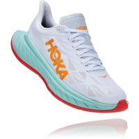 Hoka Carbon X 2 Schuhe Herren weiß/türkis US 11,5 | EU 46 2021 Laufschuhe