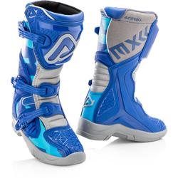Acerbis X-Team Kinder Motorcross Stiefel, grau-blau, Größe 37