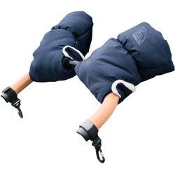 Heitmann Felle Kinderwagen-Handwärmer Eisbärchen, Handmuff für den Kinderwagen, praktische Druckknöpfe zur Befestigung, warm und weich blau